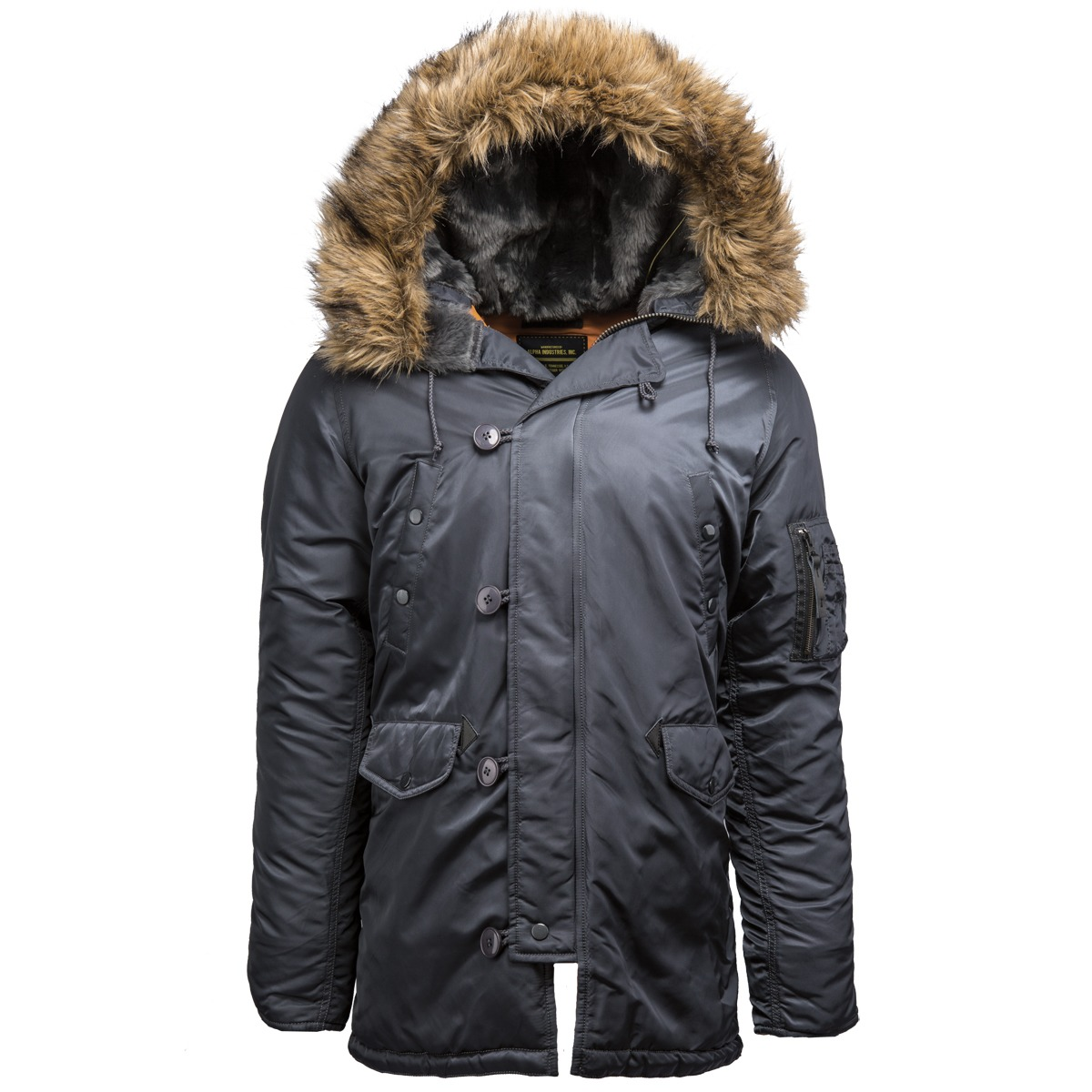 7bca58d2a69 Куртка Аляска Slim Fit N-3B Parka (Steel Blue - серо-синяя)