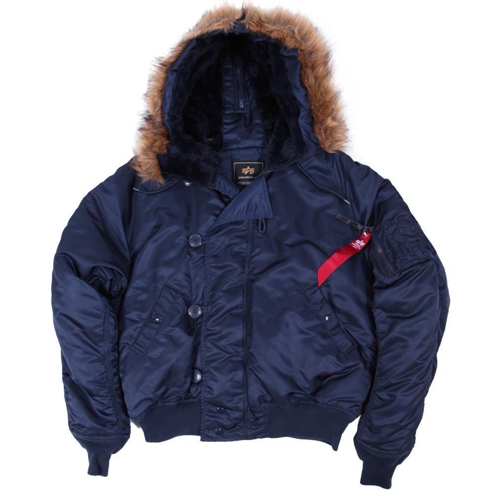 593b257f Куртка Аляска укороченная N-2B Синяя