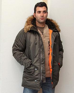 e9f2b1419c5 Куртка Аляска Slim Fit N-3B Parka (replica grey  orange)