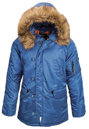 Куртка Аляска Slim Fit N-3B Parka (Pacific blue/ orange)