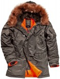 Куртка Аляска Slim Fit N-3B Parka (replica grey/ orange)